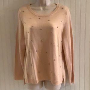 NEW Peach Gem Encrusted Sweater